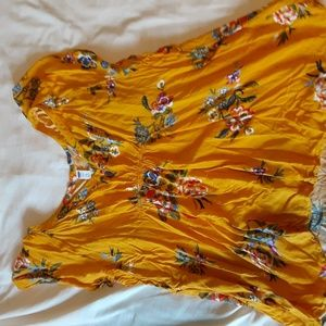 Floral yellow old navy blouse